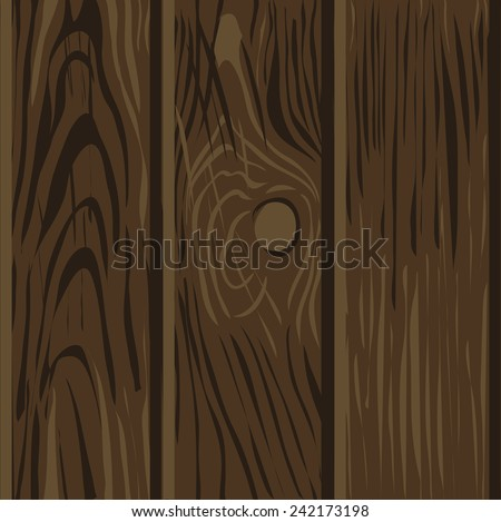 Wood texture seamless pattern Color vector illustration - stock vector