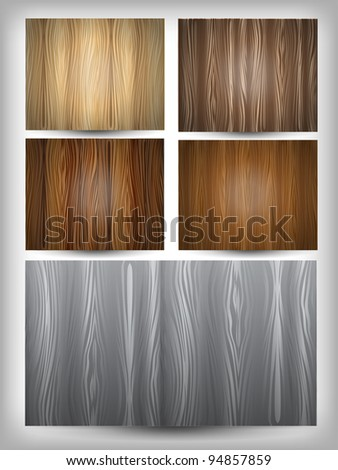 Wood texture set eps10 - stock vector