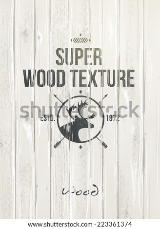 Wood texture, vector  - stock vector