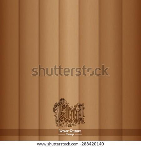 Wood texture. Vector Eps10 illustration. Brown Wooden Background - stock vector