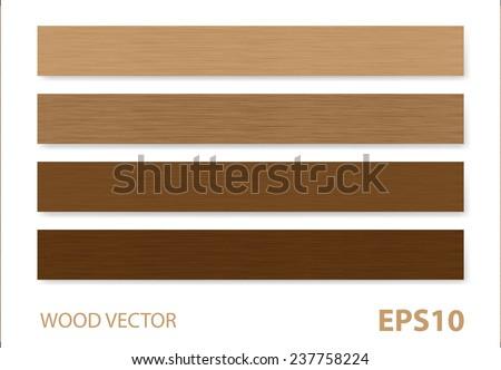 Wood vector background. - stock vector