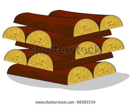 wood.vector illustration - stock vector