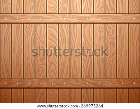 Wood wall texture background. EPS 10 vector illustration. - stock vector