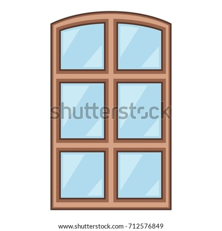 Wood Window Frame Icon Cartoon Illustration Stock Vector 712576849 ...