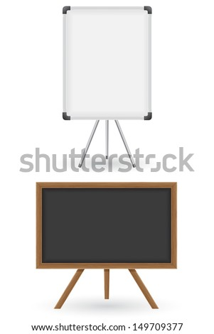wooden and plastic school board vector illustration isolated on white background