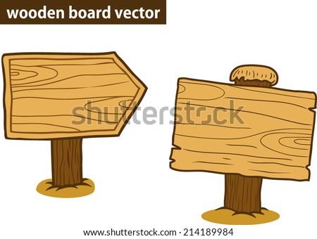 wooden blank cartoon  - stock vector