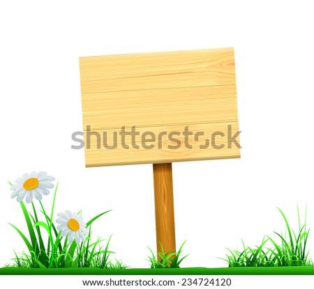 wooden board index - stock vector
