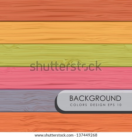 wooden board with different colors vector illustration - stock vector