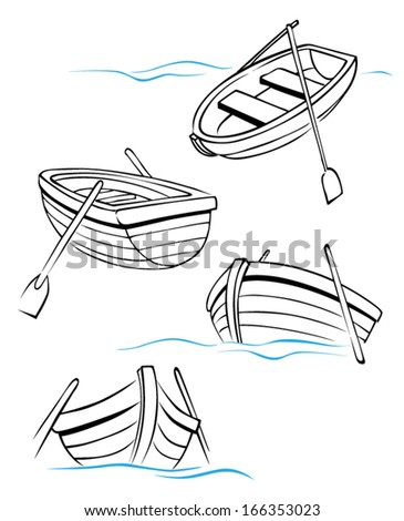 Wooden Boat Collection Sketch