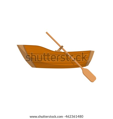 Wooden Boat With A Peddle