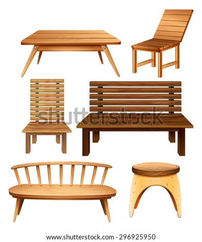 Wooden Chairs And Table In Classic Design