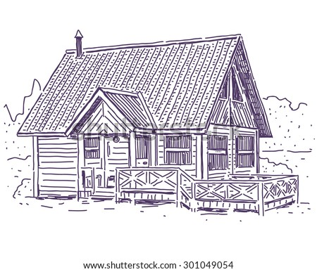 Simple House Drawing Stock Images RoyaltyFree Images Vectors