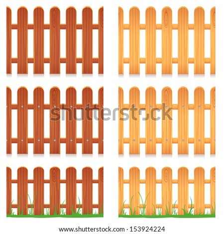Wooden Fence. Seamless