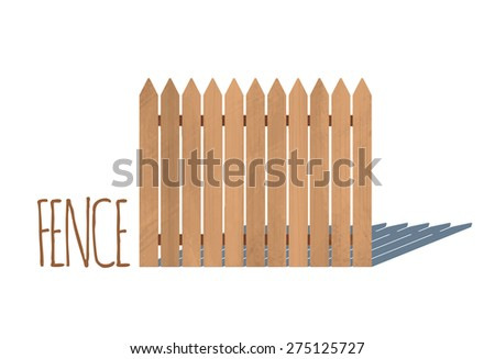 Wooden fence. Vector illustration