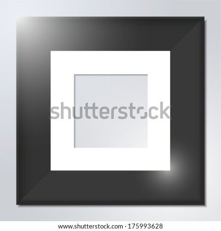 Wooden frame for art or photos - stock vector