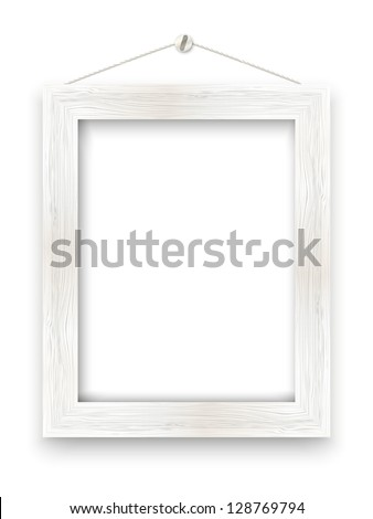 Wooden frame with place for text - stock vector