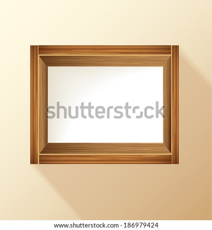 wooden frame with place for text and product - stock vector