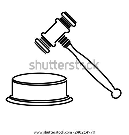Gavel Retro Clip Art Stock Vector 59040022 - Shutterstock
