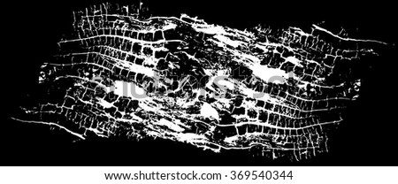 Wooden grungy background texture in black and white - stock vector