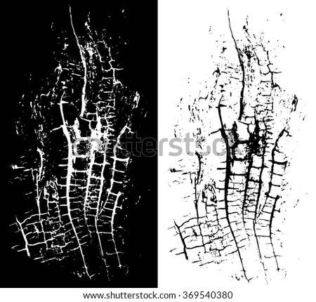 Wooden grungy rough background texture in black and white - stock vector