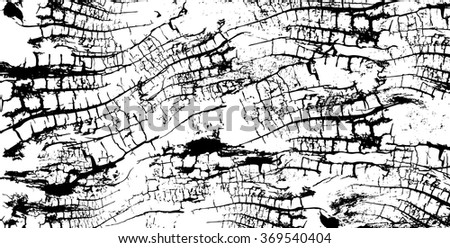 Wooden grungy texture background in black and white - stock vector