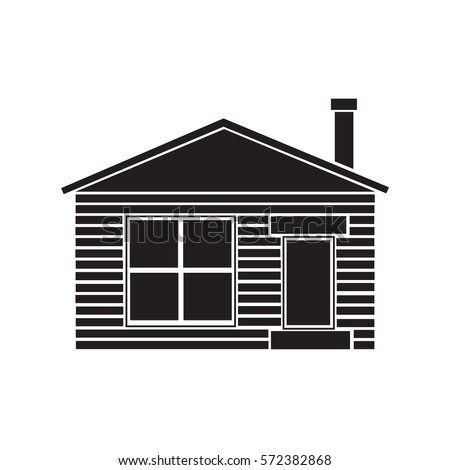 Small House Icon Outline Illustration House Stock Vector