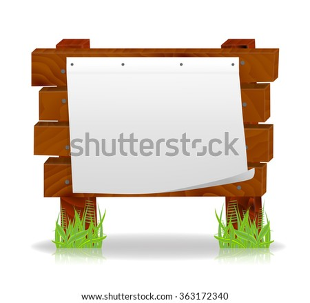 Wooden message board, vector, 10eps.