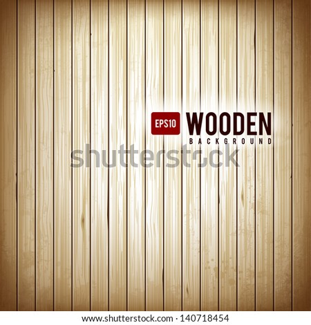Wooden plank background. Realistic wood texture.Vector illustration. - stock vector