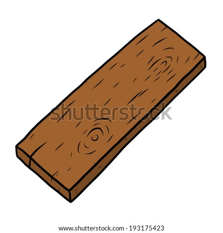 Exceptionnel Wooden Plank / Cartoon Vector And Illustration, Hand Drawn Style, Isolated  On White Background