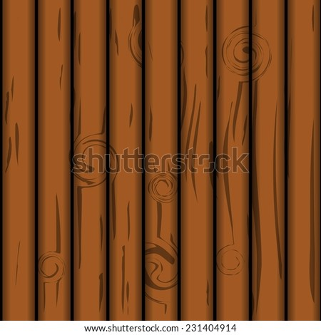 Wooden Plank Texture. seamless vector tree structure. - stock vector