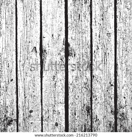 Wooden Planks Background - overlay texture, vertical distressed wooden planks. EPS10 vector. - stock vector