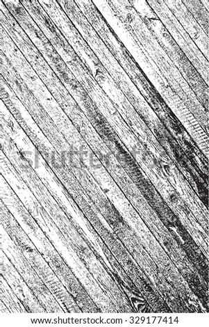 Wooden Planks diagonal distress overlay texture for your design. EPS10 vector.  - stock vector
