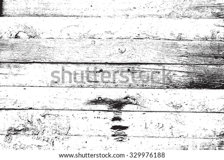 Wooden Planks distress overlay texture for your design. EPS10 vector.  - stock vector