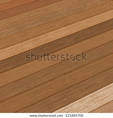 Wooden planks interior with Illuminated.  + EPS8 vector file - stock vector