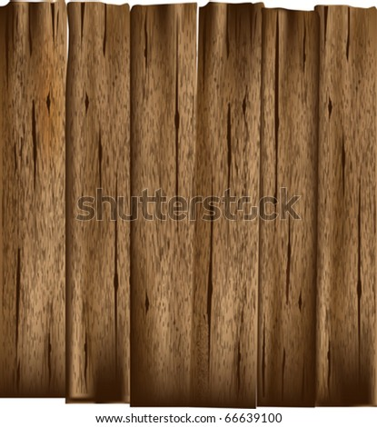 Wooden Planks Vector Background - stock vector