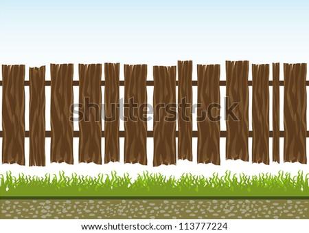 Wooden railings - stock vector