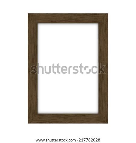 Wooden rectangular picture frame - Vector - stock vector