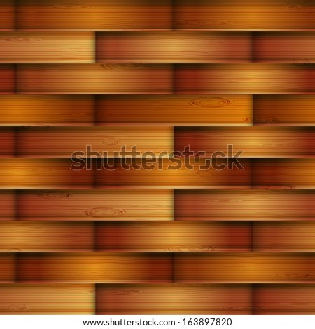Wooden seamless texture, vector illustration, eps10, 3 layers, easy editable - stock vector