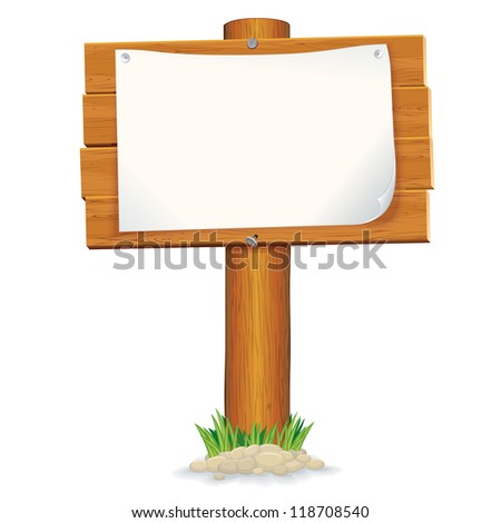 Wooden Sign - stock vector
