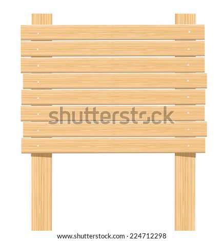 Wooden sign board - stock vector