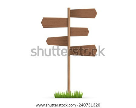 Wooden sign Post - stock vector