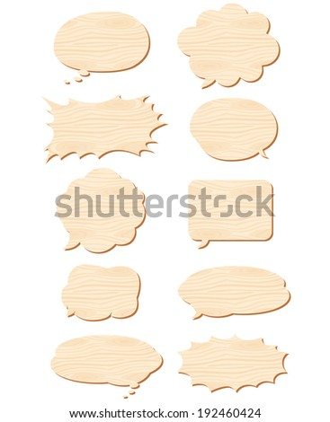 wooden speech Vector