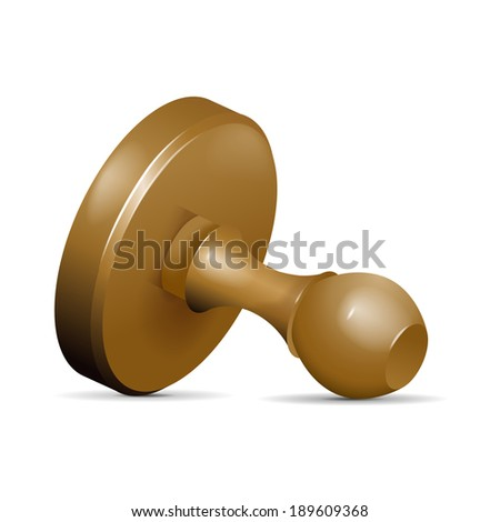 Wooden stamp on white background - vector illustration