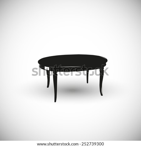 Wooden table illustration - 3d view design. - stock vector