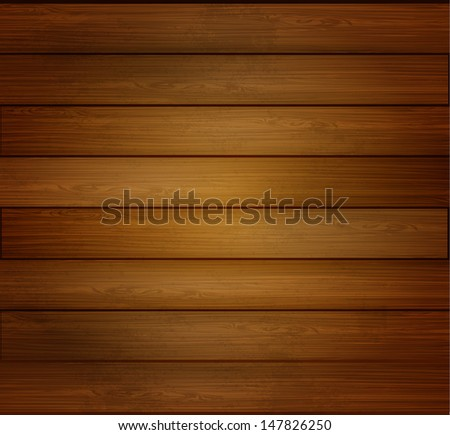 Wooden texture background - stock vector