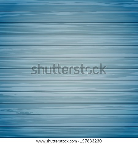Wooden texture of blue color,  vector illustration.  - stock vector