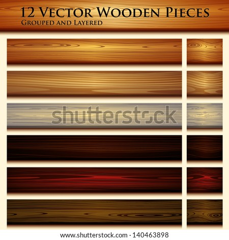 Wooden texture seamless background illustration - stock vector