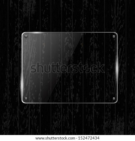 Wooden Texture With Glass Framework, With Gradient Mesh, Vector Illustration - stock vector