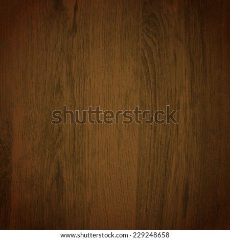 Wooden vector background with dark styled surface - stock vector