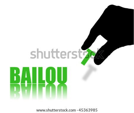 Word BAILOUT Isolated on White Background - stock vector